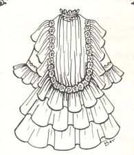 """Doll clothes SEWING PATTERN fits 17-18 """"  doll Antique design DRESS outfit 645"""