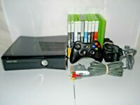 Lot Bundle Xbox 360 S 1439 Console System Controller Hook-ups & 10 Games Tested