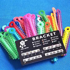 1040 Pcs Orthodontics Elastic Ligature Ties Multi-color & Metal Ortho Brackets