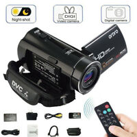"3""LCD HD 1080P 24MP 16X ZOOM Night Vision Digital Video DV Camera Camcorder US"