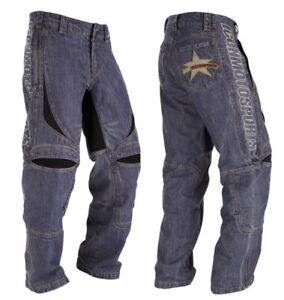 Icon Hooligan Denim Moto Sports Riding Pant Motorcycle Articulated Size 34x32