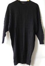 DIARTE Black Wool Dress M