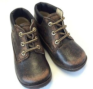 Falcotto baby 1412  US 3 all leather distress walker hiker lace with rubber sole