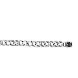 Phillip Gavriel Men's Sterling Silver Black Sapphire Miami Cuban Link Bracelet