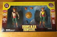 DC DIRECT DELUXE ACTION FIGURE HAWKMAN/ HAWK GIRL SILVER/ GOLDEN AGE BOX SET HTF