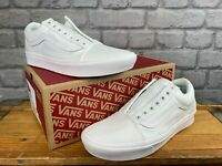 VANS LADIES OLD SKOOL COMFYCUSH WHITE TRAINERS VARIOUS SIZES NO LACES T