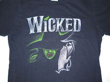 Official WICKED Defy Gravity Broadway Play Souvenir T-Shirt Sz S Green for Good