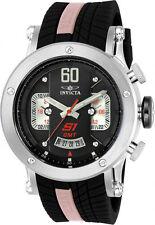 Invicta 21507 S1 Rally Quartz GMT Black Dial Racing Sport 48mm Watch