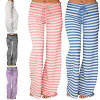 Womens Plus Size Elasticed Long Pants Ladies Wide Leg Yoga Jogging Trousers UK