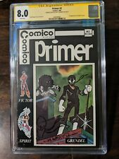Primer #2 signed/sketched by Matt Wagner first appearance of Grendel CGC 8.0