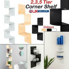 2/3/5 Tier Floating Wall Shelves Corner Shelf Storage Display Bookcase