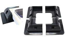 4x Eckspoiler Solar Schwarz Wohnmobil Boot Eckhalter Befestigung PV ABS Profil