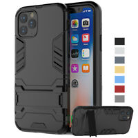 For iPhone 11 Pro XS Max XR 8 7 6 Plus Shockproof Armor Hybrid Case Cover Stand