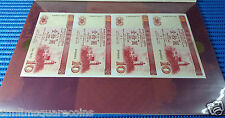 Uncut Macau 10 Patacas Note 2X 4 pcs Commemorative Note by Bank of China & BNU