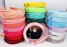 10pcs 5mm DIY Wholesale Multicolor Satin Ribbon Covered Headband Metal Hair Band