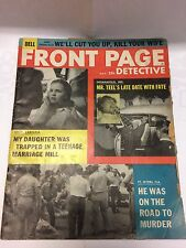 Front Page Detective Magazine, November 1958 - Free Shipping