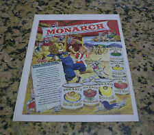 1949 ORIGINAL MONARCH CANNED FRUIT LIFE MAGAZINE AD - FINER FOODS