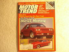 Motor Trend 1981 September Mustang GT RX-7 Turbo Alfa MG TC Mercedes Gullwing
