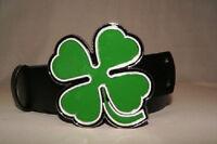 Ireland Irish Shamrock St Pattys Clover Leaf Belt Buckle