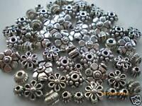 100 x Mixed Small Tibetan Silver Lead Free Beads, 50g