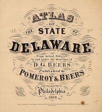 1867 Delaware State Atlas maps Genealogy Dvd S24