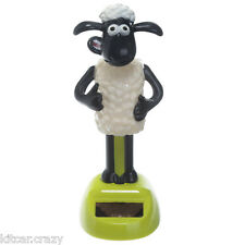 NOVELTY SOLAR POWERED DANCING SHAUN THE SHEEP, DASHBOARD TOY, HOME OR CAR
