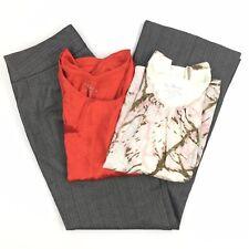 Chico's Pants Shirt Lot Size 1 8 Women's Gray Herringbone Top Silk Tank Career