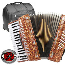 Rossetti 3460 60 Bass 34 Keys 5 Switch Piano Accordion TIGER + Stagg Padded Bag