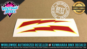 Elina LIGHTNING BOLT BMX Seat Decal Sticker - for Black or Blue Seats - Kuwahara