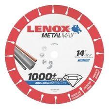 "LENOX Metal Max Diamond Cutoff Wheel CH 14"" X 1"" LEX1972929 Brand New!"