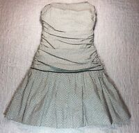 ABS Collection Allen Schwartz SZ 2 Dress Cotton Stretch Sleeveless Strapless USA