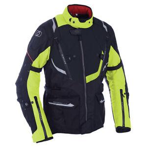 Oxford Montreal 3.0 Waterproof Motorcycle Motorbike Touring Jacket Black Fluo