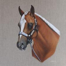 Horse Portrait. Original Oil Painting on a Linen Canvas 2017