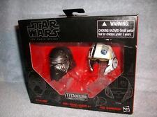 Kylo Ren Poe Dameron Mini Helmets Star Wars Force Awakens Titanium Hasbro New