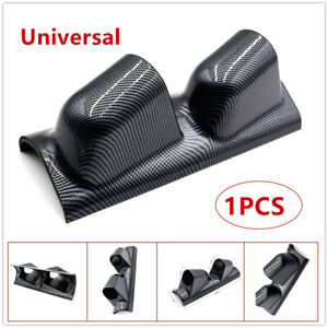 """High Quality 2"" Dual Gauge Cover Mount Holder Carbon Fiber ABS For Car Cracking"
