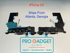 iPhone 5S NEW OEM Charging Dock Port Connector Headphone Audio Flex Cable BLACK