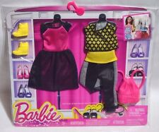 NEW-2015-BARBIE 2 PACK FASHIONS-EVOLUTION-FASHIONISTAS-BAG-HIGHTOPS-DANCE OUTFIT