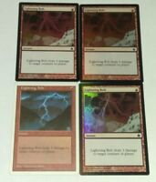 4x Lightning Bolt - Magic the Gathering Mtg LP