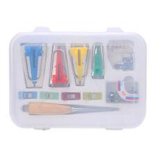 Bias Tape Maker Kits Set pour coudre Quilting alêne et Liant Pied Case Tools