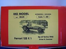 MG MODEL PLUS 20.01 - 1948 FERRARI 125 F1 - 1:20TH SCALE RESIN & METAL KIT