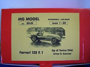 MG MODEL PLUS 20.01 - 1948 FERRARI 125 F1 - 1:20TH SCALE RESIN & METAL KIT