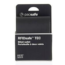 BLACK Pacsafe RFIDsafe TEC Bi-Fold Wallet Equipment for Travel and Hiking