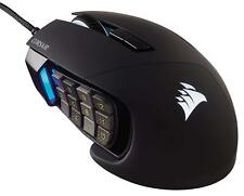 Corsair Scimitar PRO CH-9304111 Black MMO Gaming Mouse 16,000 DPI 12 Program