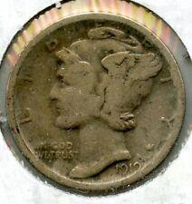 1919-S Silver Mercury Dime - San Francisco Mint BG295
