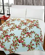 Large Coral Fleece Blanket Plush 140 x 180 Printed Warm Blanket Travel Throw