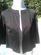 Laundry by Shelli Segal Cropped 3/4 sleeves black ladies jacket blazer Sz. 4 NWT