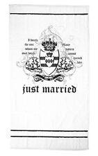 Just Married Beach Towel Bride Groom Gift Honeymoon Gift