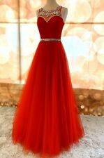 Red Prom Pageant Evening Special Occasion Cocktail Homecoming DressFormal Gown L
