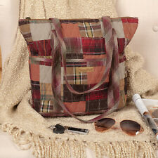 VHC Rustic Shoulder Bag Wyatt Stride Handbags Red Cotton Patchwork