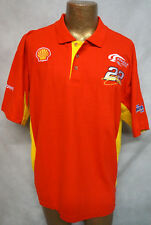 KURT BUSCH PIT CREW POLO SHIRT TEAM PENSKE RACING SHELL V-POWER NASCAR MENS XL!